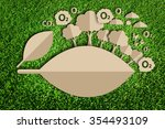 oxygen. paper cut of eco on... | Shutterstock . vector #354493109