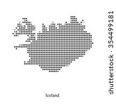 dotted map of iceland for your...   Shutterstock .eps vector #354499181
