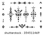 hand drawn tribal collection... | Shutterstock . vector #354511469