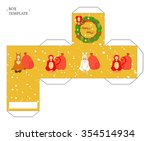 vector packaging box template... | Shutterstock .eps vector #354514934