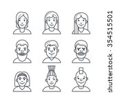 icons of people in the modern... | Shutterstock .eps vector #354515501