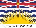 flag of british columbia... | Shutterstock .eps vector #354516167