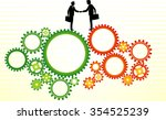 business deal expansion... | Shutterstock .eps vector #354525239