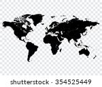high detail vector black map of