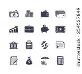 monochrome money icons | Shutterstock .eps vector #354527849