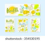 vector illustration of fruits... | Shutterstock .eps vector #354530195