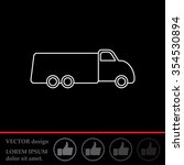 truck line icon | Shutterstock .eps vector #354530894