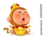 chinese zodiac   monkey.... | Shutterstock .eps vector #354534095