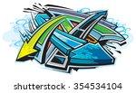 graffiti | Shutterstock .eps vector #354534104