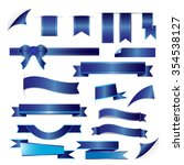 blue ribbons set isolated on... | Shutterstock .eps vector #354538127