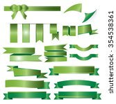 green ribbons set isolated on... | Shutterstock .eps vector #354538361