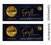 gift voucher template set with... | Shutterstock .eps vector #354544451