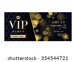 vip party premium invitation... | Shutterstock .eps vector #354544721