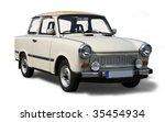 old eastern europe car.... | Shutterstock . vector #35454934