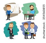cartoon businessman set | Shutterstock . vector #354560855