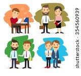 cartoon business people   Shutterstock . vector #354560939