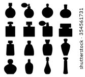 set of perfume icons  vector... | Shutterstock .eps vector #354561731