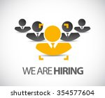 we are hiring the right... | Shutterstock .eps vector #354577604