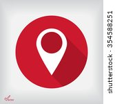 the label on the map icon | Shutterstock .eps vector #354588251