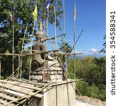 the construction of the buddha... | Shutterstock . vector #354588341