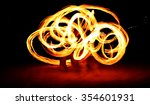 slow shutter speed of fire show ... | Shutterstock . vector #354601931