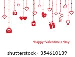 greeting card for valentines... | Shutterstock .eps vector #354610139