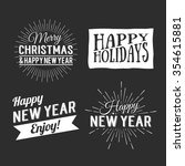 merry christmas and happy new... | Shutterstock .eps vector #354615881