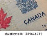 canadian passport | Shutterstock . vector #354616754