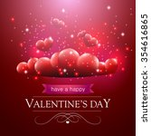 valentines day card with... | Shutterstock .eps vector #354616865