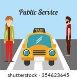 taxi service design  vector... | Shutterstock .eps vector #354623645