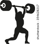 strong weightlifter with barbell | Shutterstock .eps vector #354628217