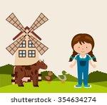 farm fresh design  vector... | Shutterstock .eps vector #354634274