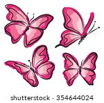 Pink Butterfly Illustration