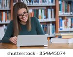 student in the library           | Shutterstock . vector #354645074