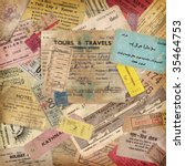 Vintage Travel Background Made...