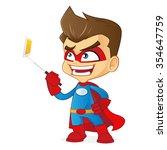 superhero taking picture | Shutterstock .eps vector #354647759