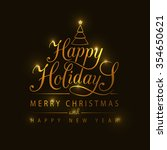 happy holidays greeting card.... | Shutterstock .eps vector #354650621