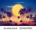 Retro Style Vector Full Moon...