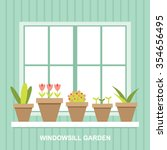 Windowsill Garden Flower Pots...