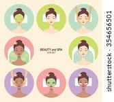 beauty and spa procedures flat... | Shutterstock .eps vector #354656501