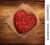 Raw Heart Shaped Burger Cutlet...