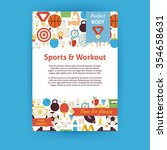 sport and workout invitation... | Shutterstock .eps vector #354658631