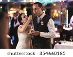 stylish smiling happy bride and ...   Shutterstock . vector #354660185