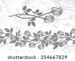 Set Of Two Roses In A Gray...