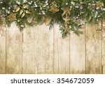 christmas fir tree with vintage ... | Shutterstock . vector #354672059