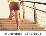 young fitness woman runner...   Shutterstock . vector #354675875