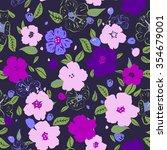 vector illustration of floral... | Shutterstock .eps vector #354679001