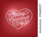 valentines day lettering... | Shutterstock .eps vector #354680297