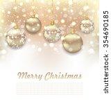 illustration christmas glossy... | Shutterstock . vector #354690185