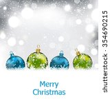 illustration xmas winter... | Shutterstock . vector #354690215